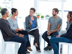 People in group therapy