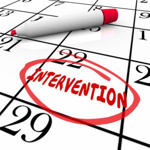An Intervention Scheduled On A Calendar After An Addict Refuses Treatment
