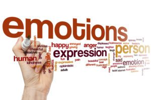 A Hand Writing About Emotions