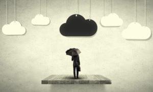 Dark Cloud Over A Man's Head Suicide Concept
