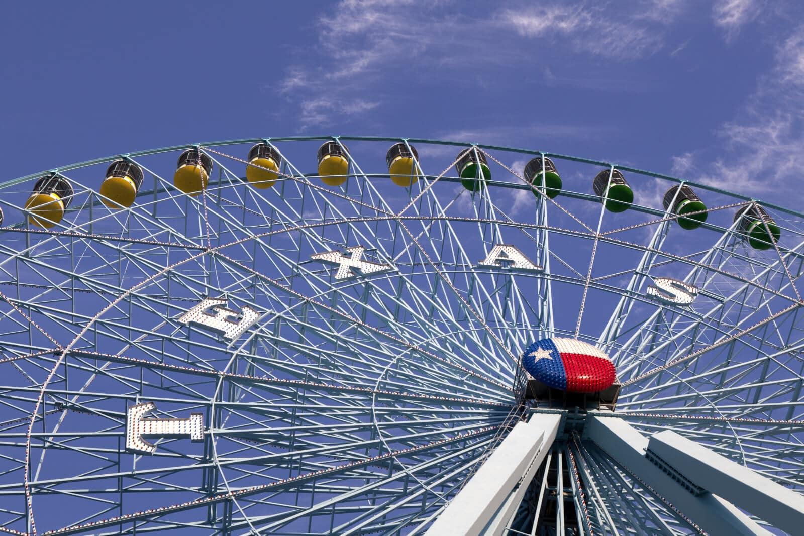 The Ferris Wheel At The Texas State Fairgrounds In Dallas, Texas