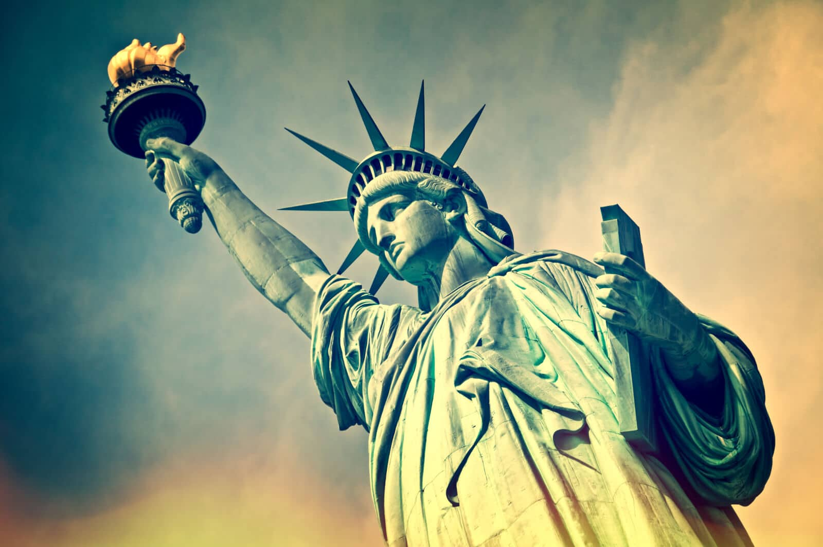 The Statue of Liberty, Located In New York City, New York