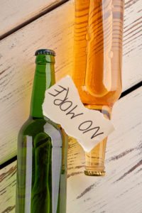 Alcohol Bottles With No More Written On Them Due To Acamprosate