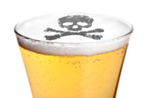 Alcohol Poisoning Symbol On A Beer