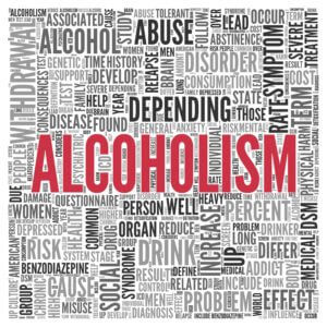 Alcoholism And Addiction Word Chart