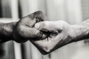 Holding Hands To Help A Recovering Addict Or Alcoholic