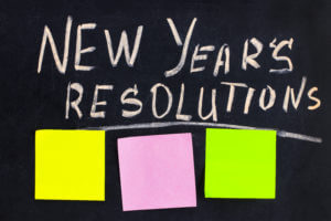New Year's Resolution To Get Sober Written On a Chalkboard