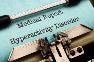 Hyperactivity Disorder Written On A Typewriter Representing Study Drugs