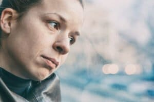 A Woman Suffering From Substance Abuse Pondering How Addiction Really Starts