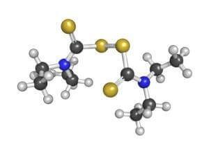 Diagram of the Chemical Formula for Disulfiram