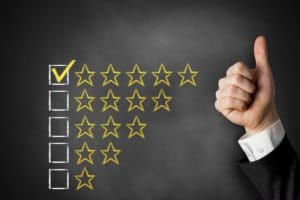 A Thumbs Up And A Five-Star Rating Representing A Top-Rated Treatment Center
