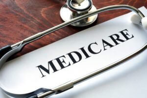 Paper With Medicare Written On It With A Stethoscope