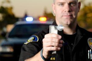 Police Officer Making A DUI Arrest