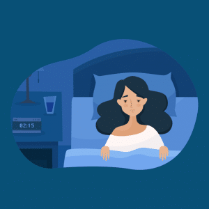 Insomnia is a common symptom of withdrawal from sleeping pills.